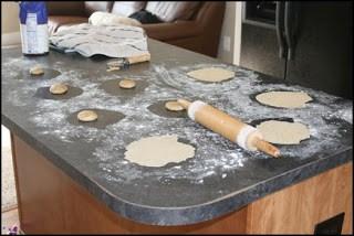 soaked tortilla shells