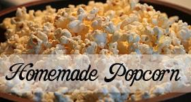 homemade popcorn