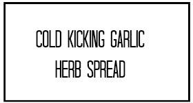 garlic herb spread