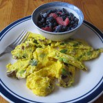 Breakfast: Omelet, berries