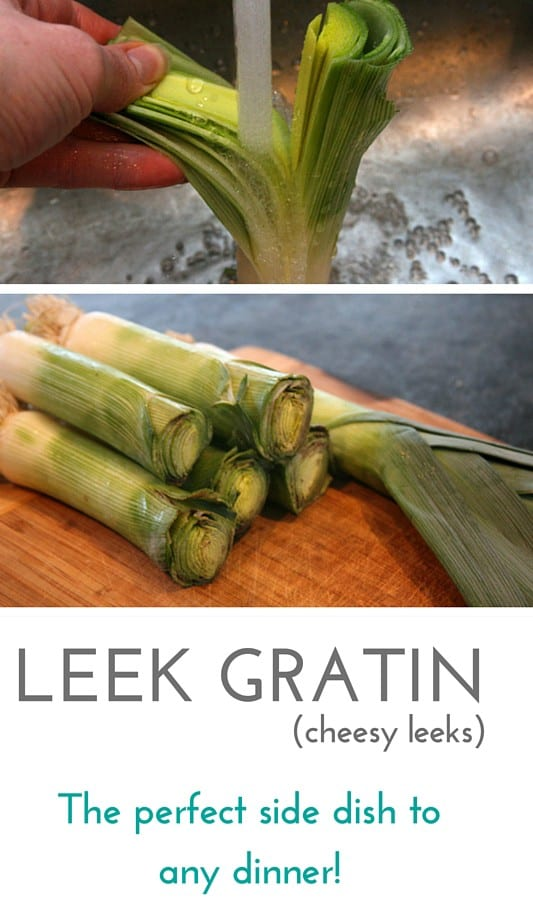 Leek Gratin - a cheesy side dish!