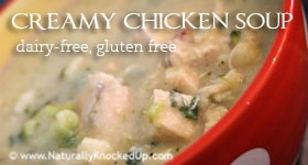 dairy free creamy chicken soup