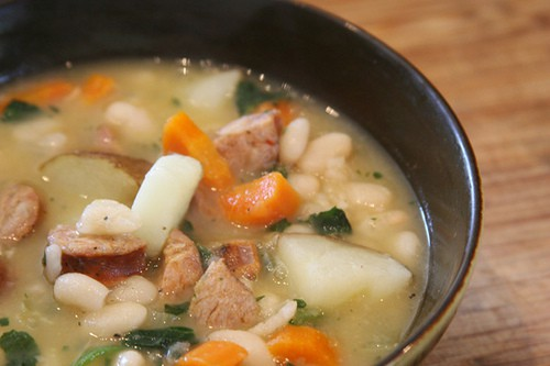 Chicken Sausage and bean soup