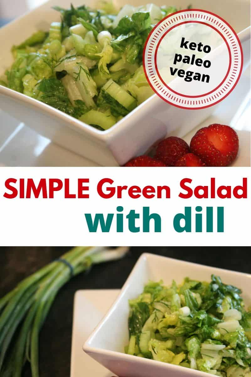 green salad with dill
