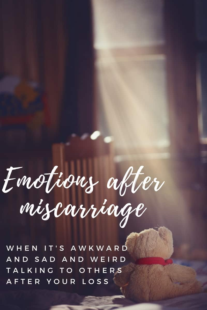 Emotions after miscarriage, a personal journey