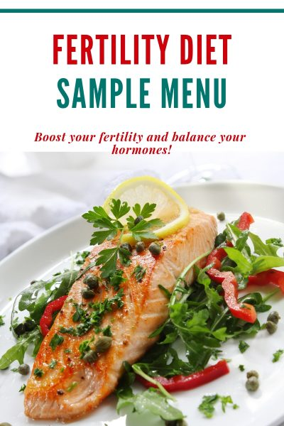 salmon sample fertility diet menu