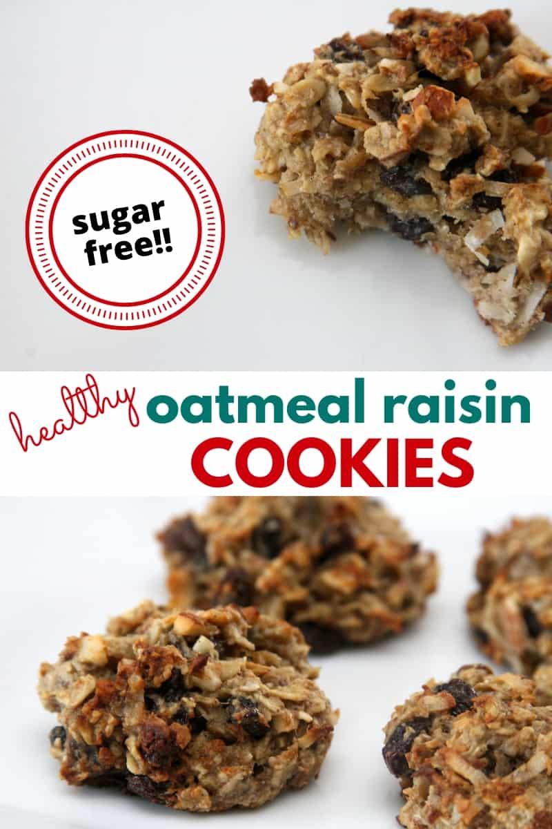 healthy oatmeal raisin cookies closeup
