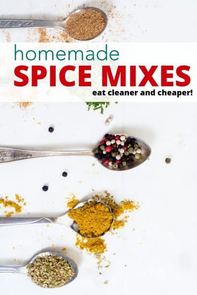 homemade spice mix on spoons