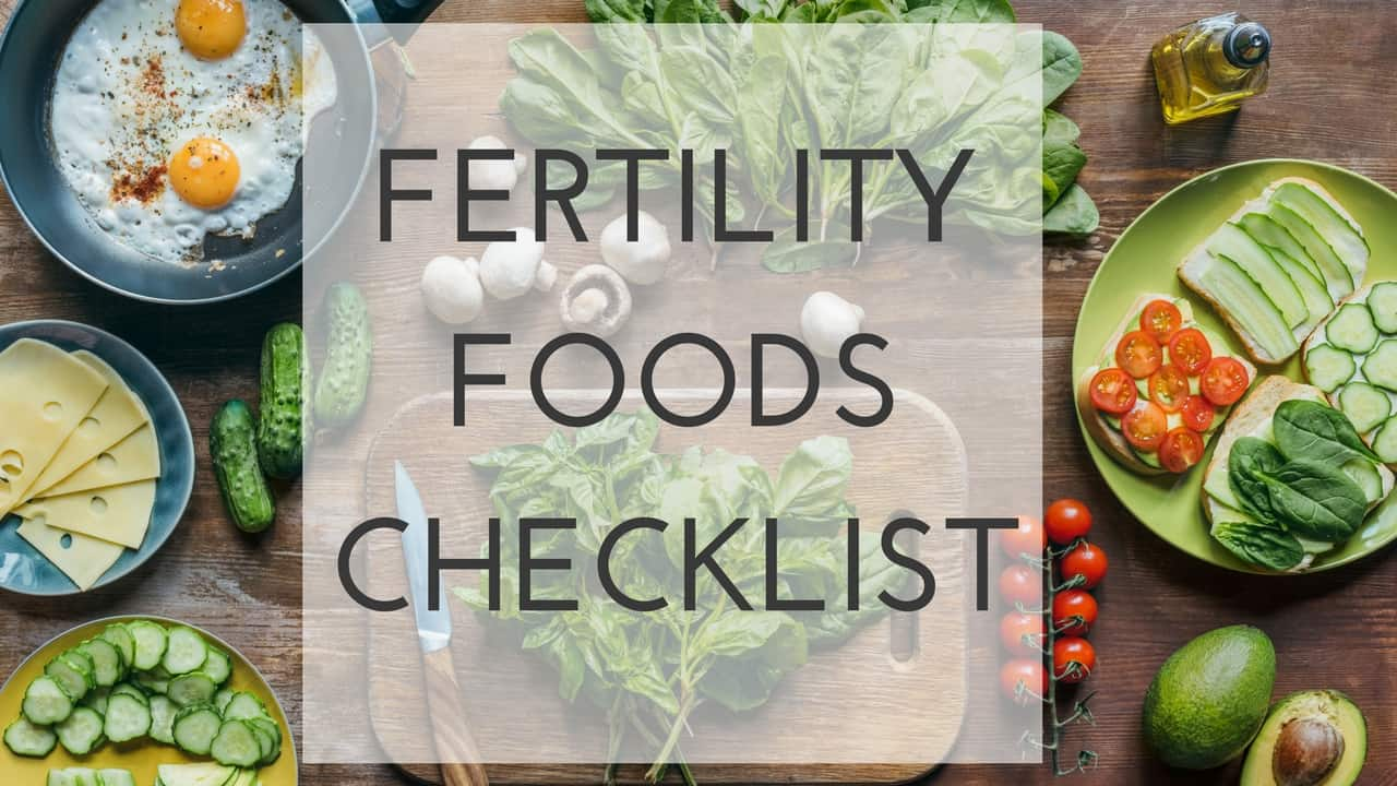 Free Fertility Foods Checklist
