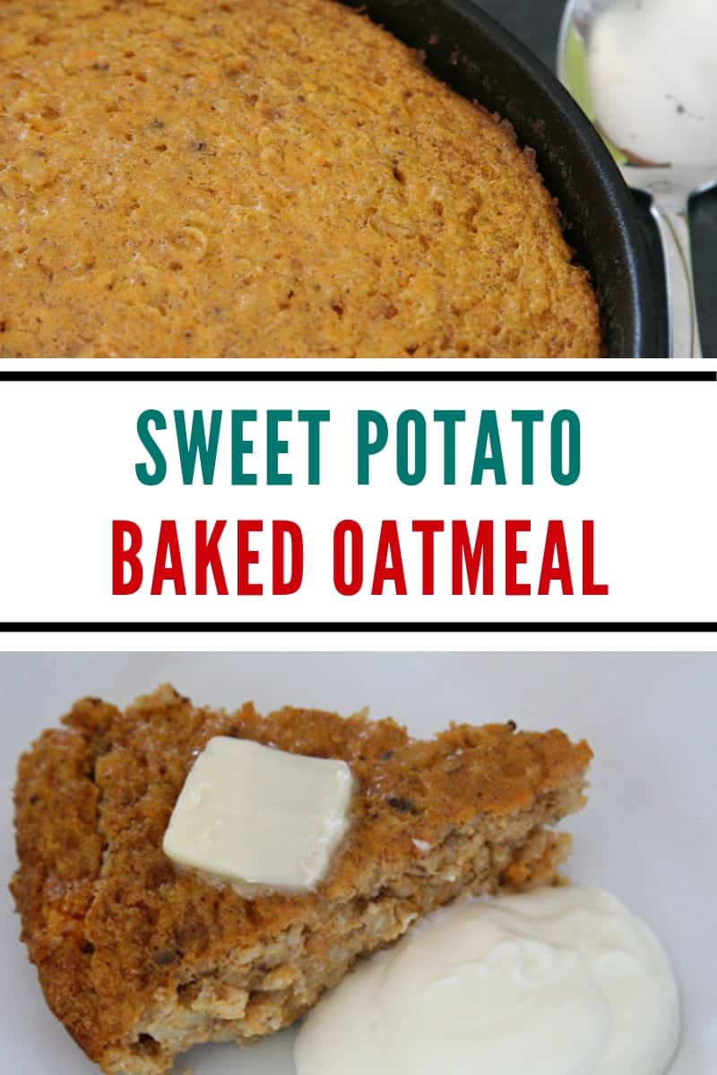 baked oatmeal closeup
