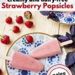 Creamy Strawberry Popsicle