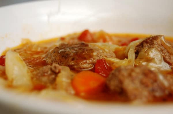 Cabbage and Meatball Soup - Natural Fertility and Wellness