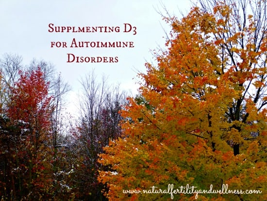 supplementing vitamin d3 for autoimmune disorders