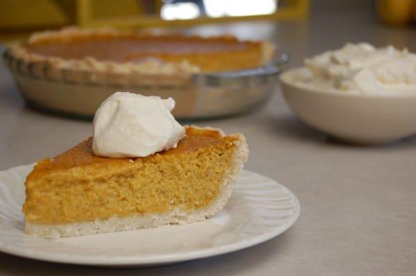 homemade gluten free pumpkin pie