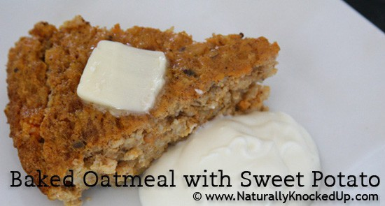baked oatmeal with sweet potato