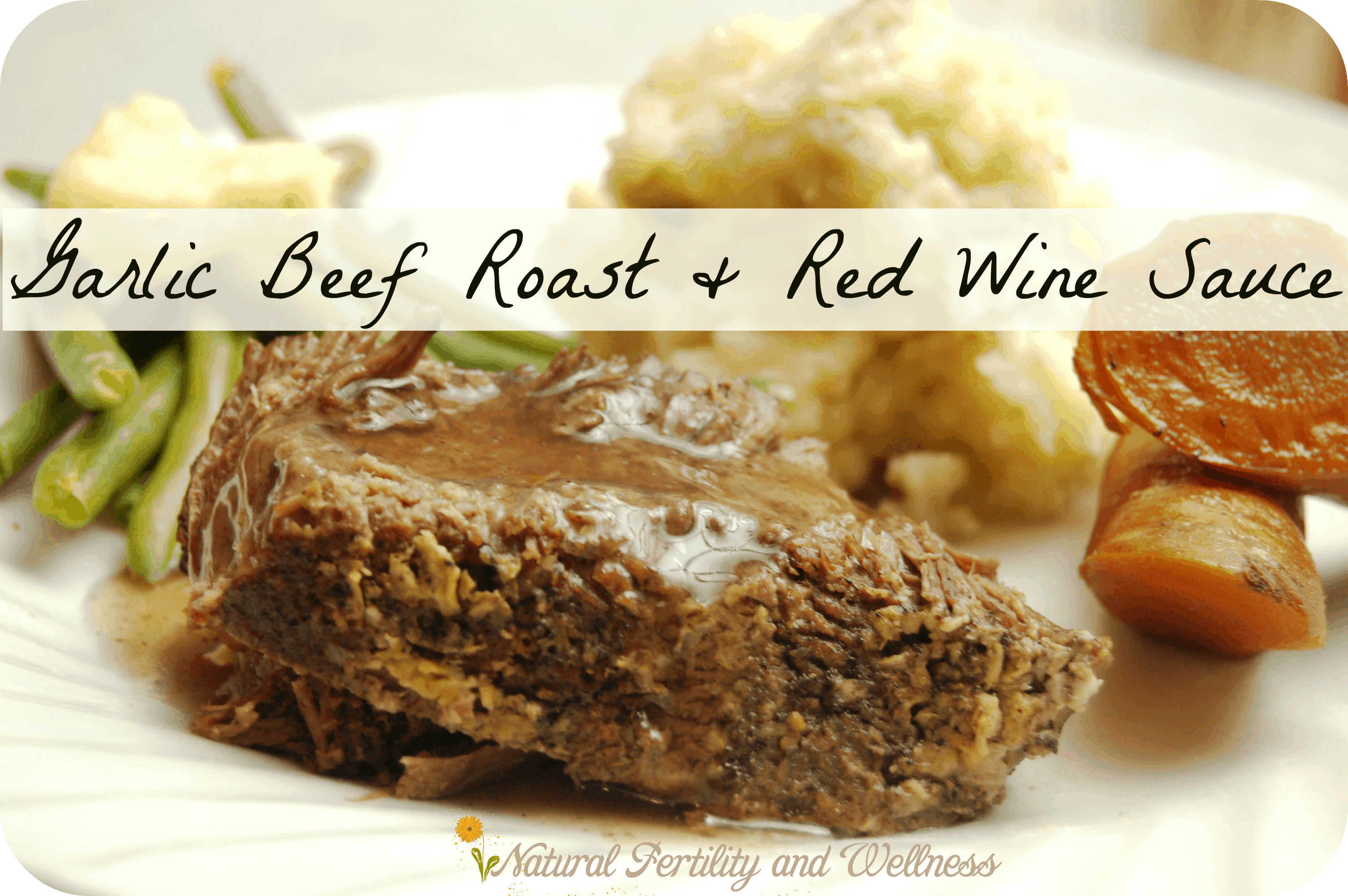 Beef roast made with roasted garlic and covered in a red wine sauce garlic roasted beef roast with red wine sauce forumfinder Image collections