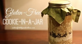 gluten free cookie in a jar