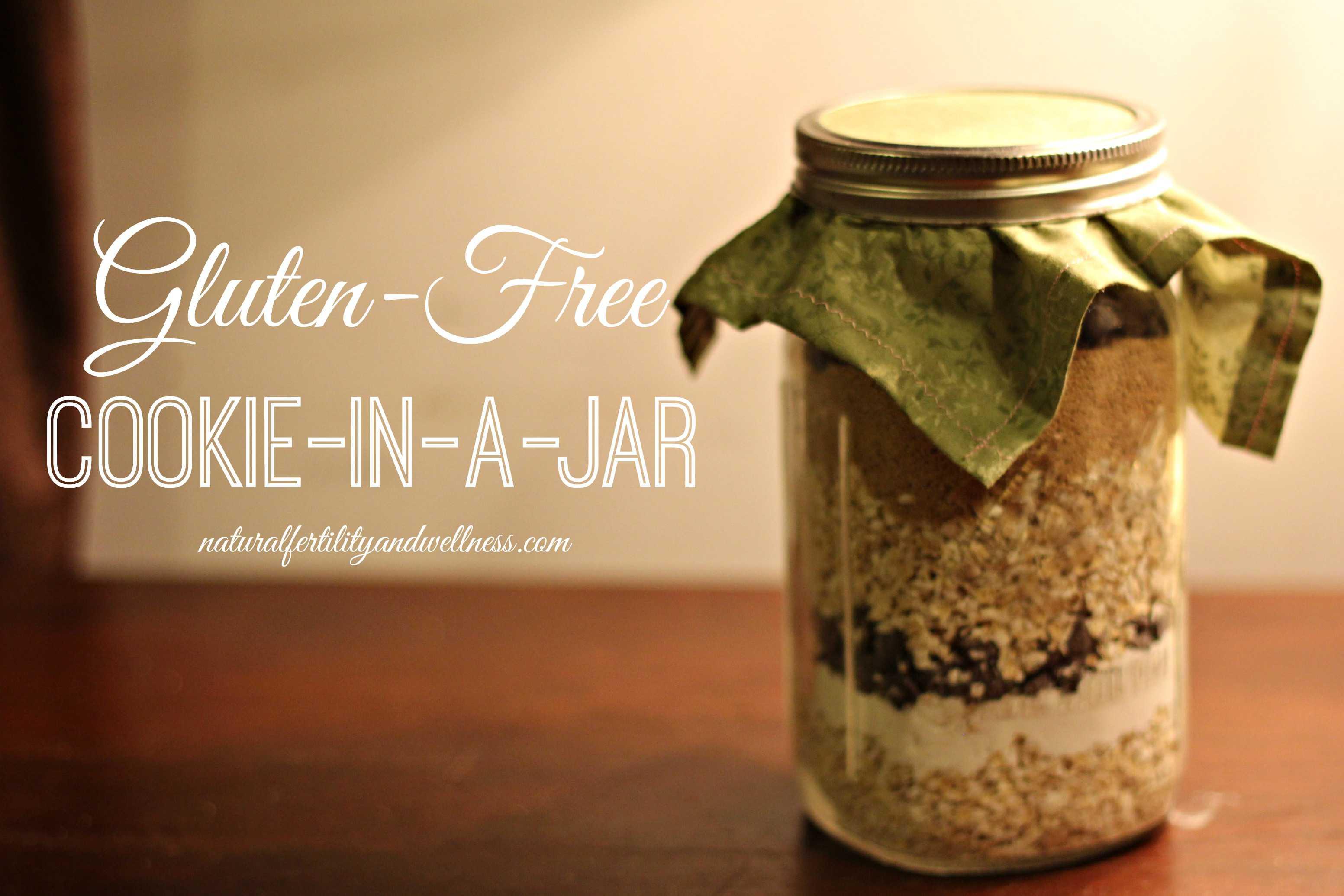 gluten free cookie in a jar