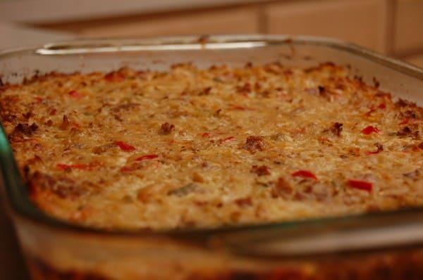 Hashbrown Breakfast Casserole {Recipe} www.naturalfertilityandwellness.com