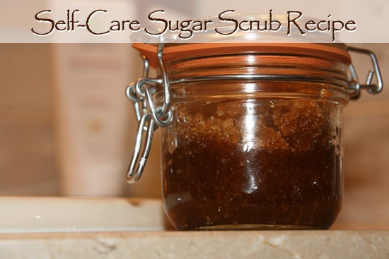 Self-care Sugar Scrub Recipe (www.naturalfertilityandwellness.com)