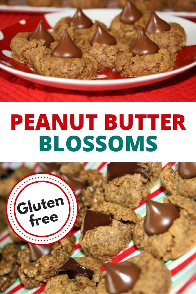 gluten-free peanut butter blossoms
