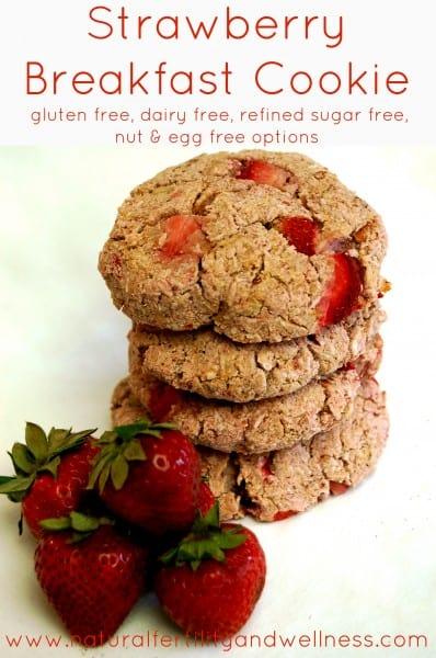 Strawberry Breakfast Cookie stack