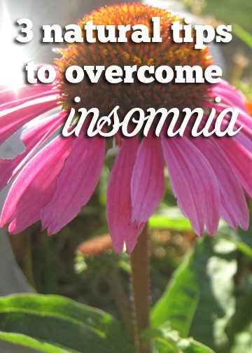 natural tips for insomnia