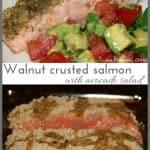 Walnut crusted salad