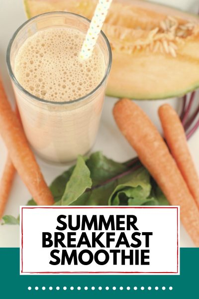 breakfast smoothie and ingredients