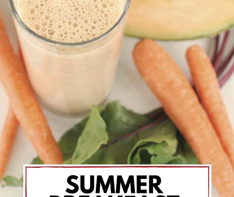 Summer breakfast smoothie