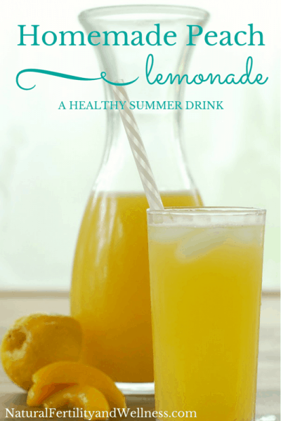 Homemade peach lemonade