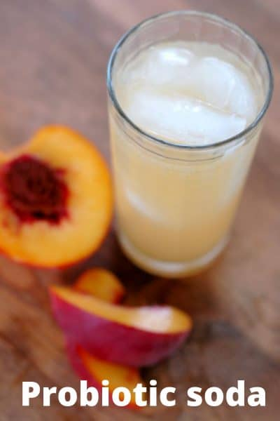 Probiotic peach soda