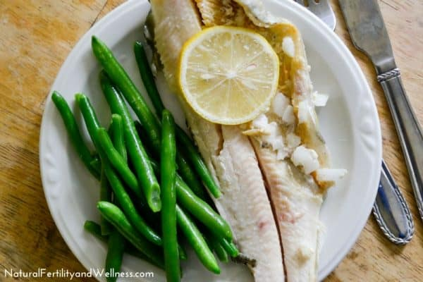 healthy baked trout
