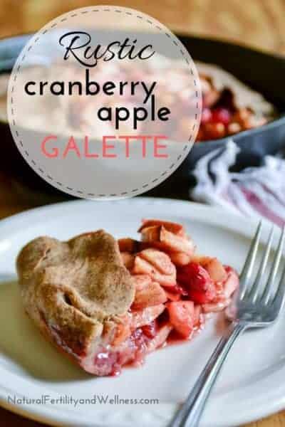 Rustic Cranberry Apple Galette