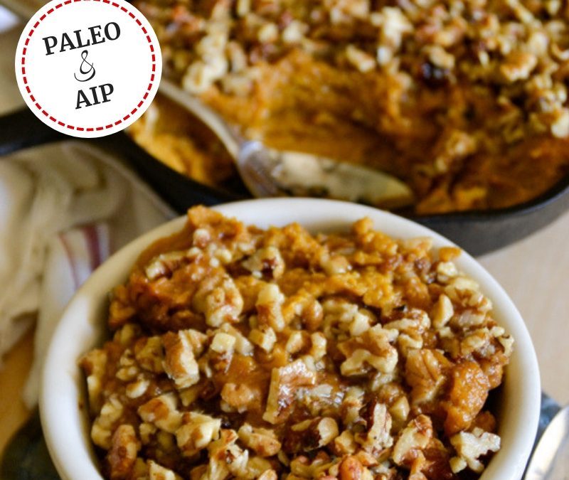 Healthy Maple Sweet Potato Casserole