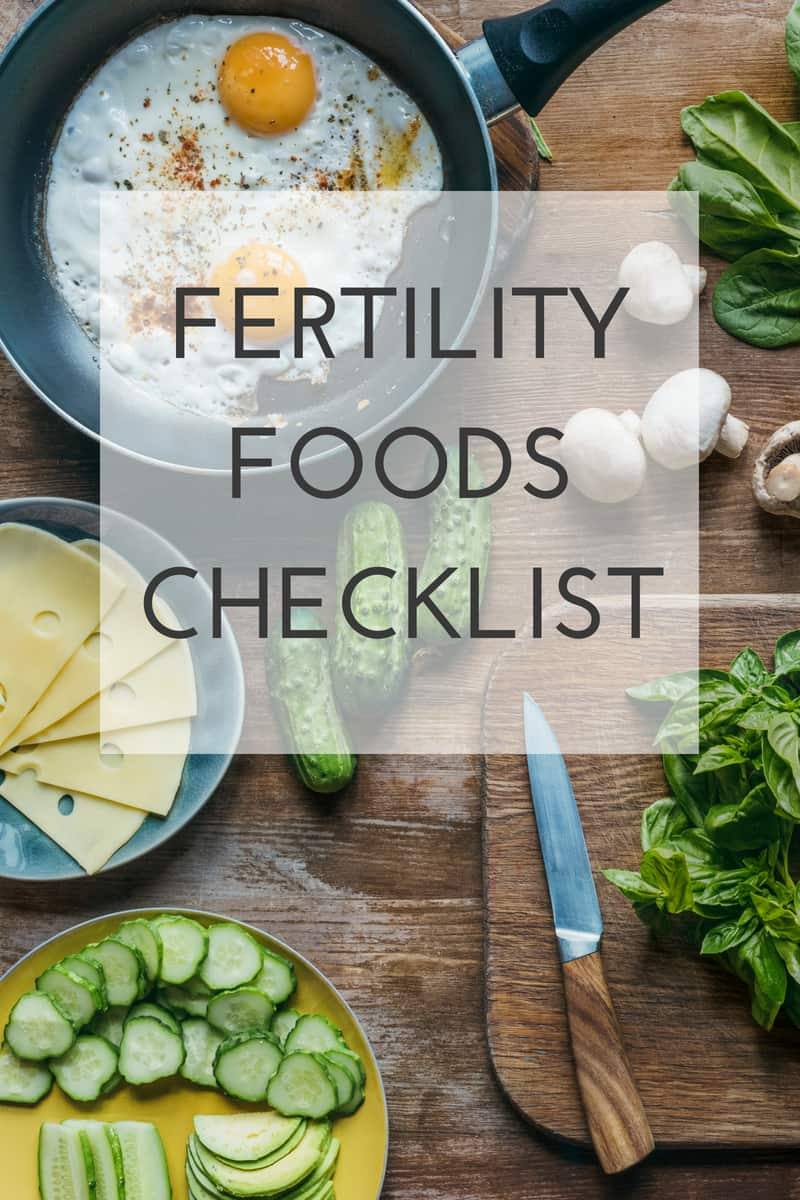 fertility foods checklist