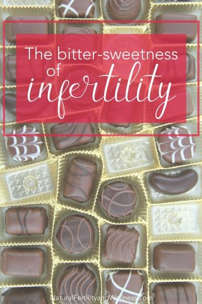 how to cope with infertility - photo of a box of chocolates