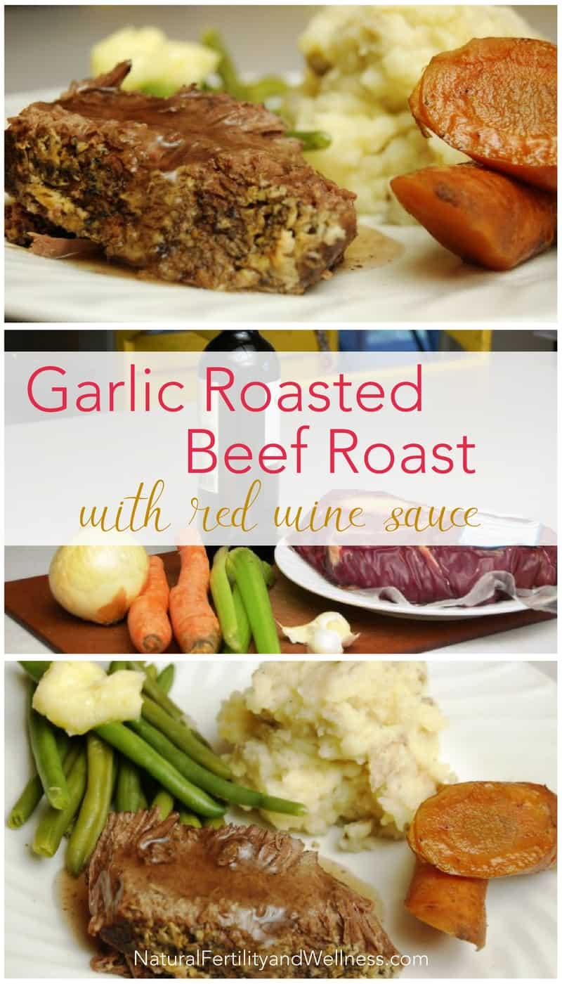 Garlic Roasted Beef Roast